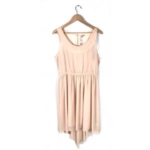 LC Lauren Conrad dress pleated high low butterfly